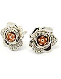 Clogau Silver and Welsh Gold Moonlight Rose Topaz Stud Earrings