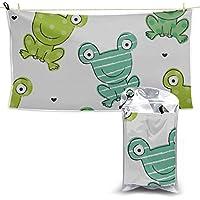 Rtosd Frog Green Big Eye Friendly Kids Quick Dry Towel Travel Quick Dry Towel Body Microfiber Towel Beach Towel Microfiber 27.5