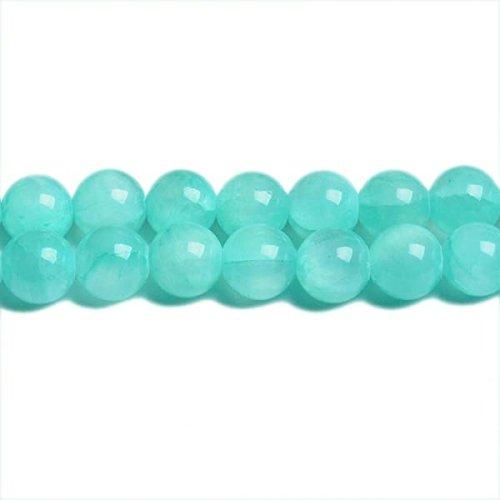 Charming Beads Strang 62+ Türkis Jade Mashan 6mm Rund Perlen CB31420-2 -