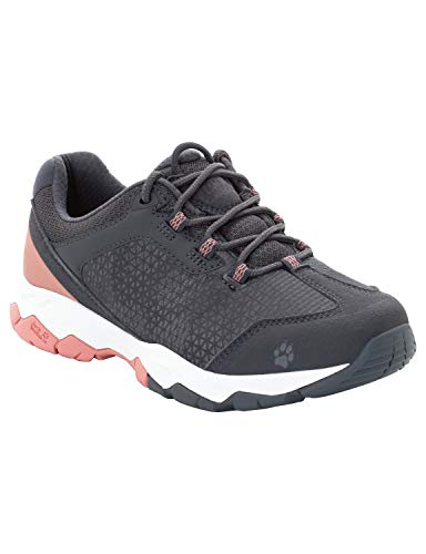 Jack Wolfskin Damen Rock Hunter Low Trekking- & Wanderhalbschuhe, Grau (Rose Quartz 2131), 40 EU - Damen Jack