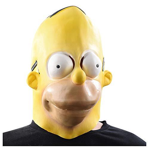YaPin Neuheit Simpson Maske Maskerade Latexmaske Halloween Karnevalsmaske (Halloween Simpson Los 13)