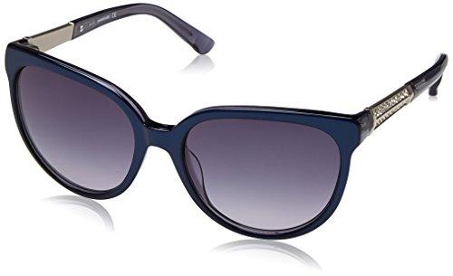 Swarovski sk0082-5590w, occhiali da sole donna, blu (shiny blue/gradient blue), 55