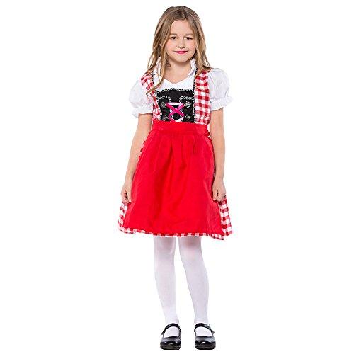 Hallowmax Oktoberfest-Kostüm Mädchen Kleid Traditionelle Bayern-Tracht München Deutsches Bierfest