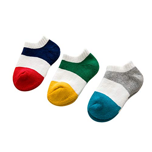 FOOTPRINTS Organic cotton New Born Baby Socks - 0-6 Months - Pack of 3 Pairs - Colourful Lowcut