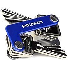 Organizador de llaves, aluminio, capacidad para hasta 16 llaves