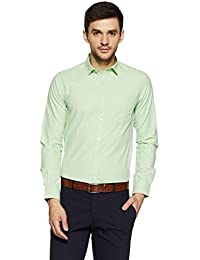 EX by Excalibur Men's Solid Regular Fit Formal Shirt