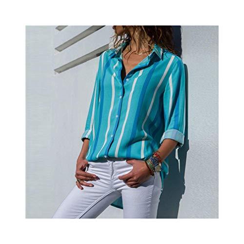 Women Fashion Long Sleeve Turn Down Collar Office Chiffon Blouse Shirt Tops Danskin Womens Crop
