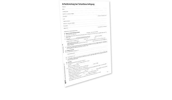 Avery Zweckform 2878e Arbeitsvertrag Teilzeit Word Download