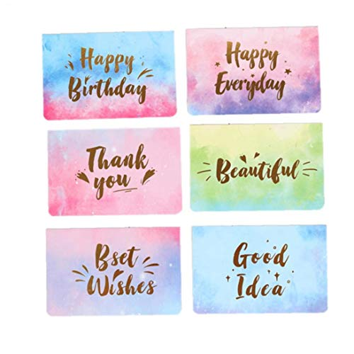 10Pcs Faltbare Mitteilungs-Karte Mit Aquarell Fertigte Postkarte Geburtstags-Gruß-Karten-Geschenk-Karten (Random Style) - Danken Ihnen Kinder Karten Personalisierte