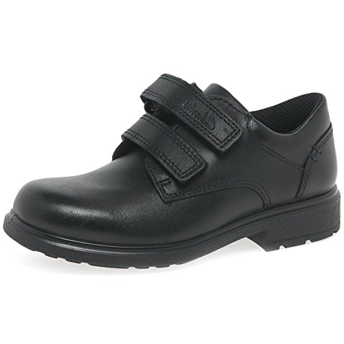 Clarks Remi Pace Inf Boy's School Shoes 7 G Black Leather