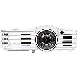 """Optoma GT1080e Vidéoprojecteur DLP Full Haute Définition Courte Focale (Image de 92"""" de diagonale à une distance de 1m de la surface de projection), 2 HDMI pour la télévision et le Home Cinéma"""
