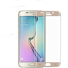sibaina curvado aleación de titanio Cristal Templado para Samsung Galaxy S6Edge, 3d Curved cobertura total cristal templado Protector de pantalla LCD para Samsung Galaxy S6Edge Plus, dorado, For Samsung Galaxy S6 edge