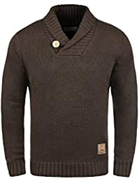 Solid Paddy Pull En Grosse Maille Pull-Over Tricot Pour Homme Avec Col Châle 7830085f07c6