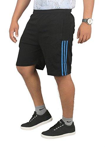 FINZ Men's Polyester Shorts (Black_32)