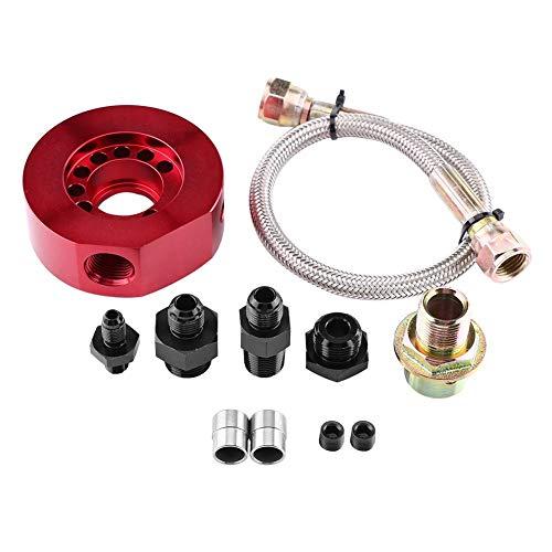 Adattatore per olio, Kit olio motore per auto Filtro olio Kit adattatore per radiatore per B20(Rosso)