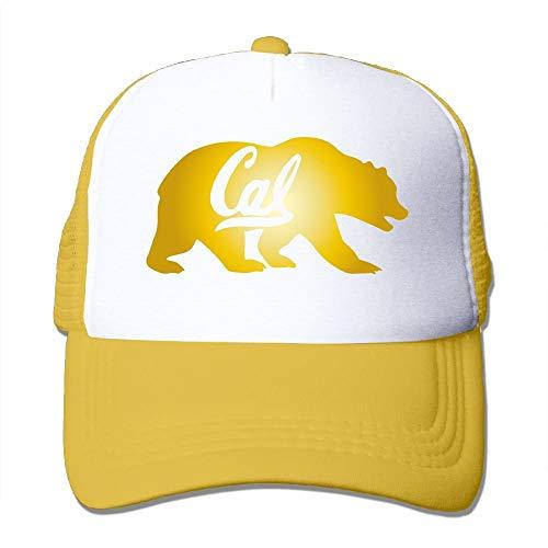 jiilwkie UC Berkeley Cal Golden Bears Mesh Trucker Caps/Hats Adjustable for Unisex Black Uc Berkeley Bears