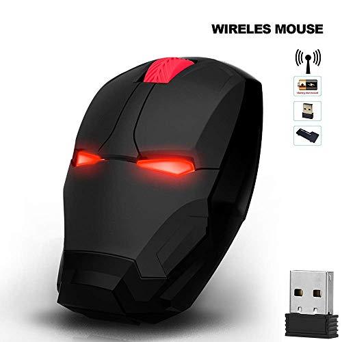 Gaming Maus, Wireless Mouse Gaming Maus Gamer Computer Mäuse Taste Silent Click 800/1200/1600 / 2400DPI Einstellbarer Computer