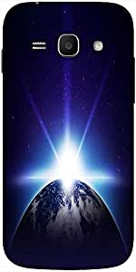 Snoogg Earth Sunrise Solid Snap On - Back Cover All Around Protection For Sam...