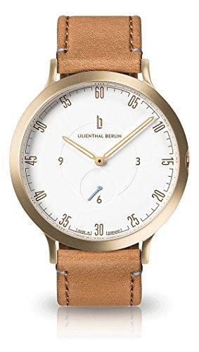 Lilienthal Berlin Herren Analog Quarz Uhr mit Leder Armband L01-102-B006B