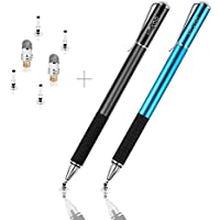 Mixoo Stift Disc Eingabestift Touchstift Stylus Kapazitive Touchscreen Stift mit Disc und Fiber Tip Kompatibel für Smartphones &Tablets Apple iPhone