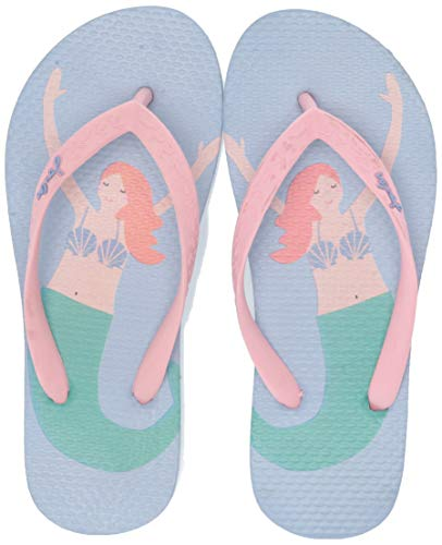 Joules Mädchen Flip Flop Zehentrenner, Blau (Blue Mermaid Bluebell), 30 EU - Blue Kinder Flip Flop