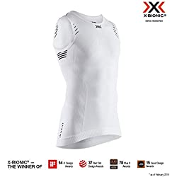 X-Bionic Invent Light Singlet T-Shirt, Mujer, Arctic White/Opal Black, XL
