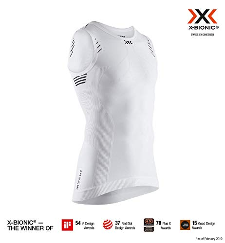 super popular a8f14 13b05 X-Bionic Invent Light Singlet Men, T Shirt Uomo, Arctic White/Opal Black, L