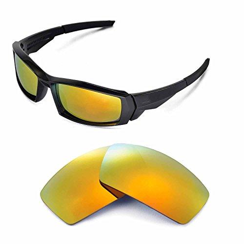 Walleva Ersatzgläser für Oakley Canteen Sonnenbrille - Mehrfache Optionen (24K Gold Mirror Zieht - Polarisierte)