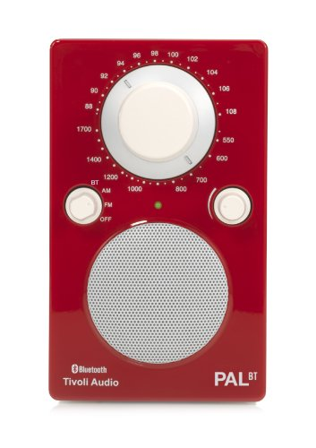 Tivoli PAL BT Tragbares Bluetooth UKW-/MW-Radio in Rot