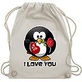Valentinstag - Pinguin Rose Pralinen Geschenk - Unisize - Naturweiß - WM110 - Turnbeutel & Gym Bag