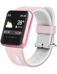 smart watch Pantalla A Color Reloj Inteligente Pulsera Bluetooth Fitness Tracker PodóMetro Ip68 A Prueba De Agua Compatible iPhone iOS Android Hombres Mujeres NiñOs