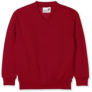 AWDis Jungen Sweatshirt Kids Academy V-Neck, Rot Claret ACL, 13 Jahre (Hersteller Größe:XX-Large)