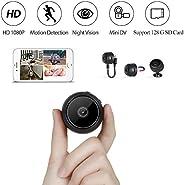 Innoo Tech Mini Spy Camera HD 1080P Portable Hidden Nanny Cam Motion Detection for Home Office Car Security, 3