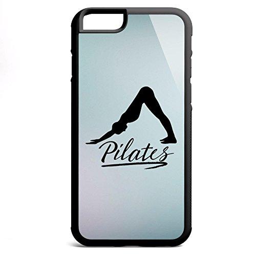 Smartcover Case Pilates v2 z.B. für Iphone 5 / 5S, Iphone 6 / 6S, Samsung S6 und S6 EDGE mit griffigem Gummirand und coolem Print, Smartphone Hülle:Iphone 6 / 6S weiss Iphone 6 / 6S schwarz