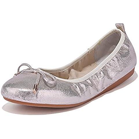 Morbido fiocco scarpe piatte moda balletto/ piatto