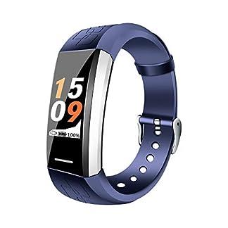 YMGR Monitores De Actividad Pulsera Inteligente Función Multideportiva Presión Arterial/Frecuencia Cardíaca, Frecuencia Cardíaca Dinámica Y Estática, Prueba De Oxígeno En La Sangre Y Otras