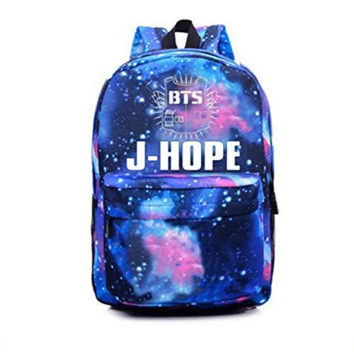 Happy Banana Schultasche BTS Schulter Rucksack Casual Daypacks Laptop Notebook Rucksack Rucksack Verursacht Handtasche für Die Reise Schule Sternenhimmel J-Hope