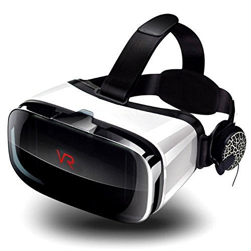 Miaojiea cardboard cuffia di 3d vr realtà virtuale vr video occhiali con supporto per cuffie iphone 8/7/6/6 plus/5s, galaxy s7 s6 s5 moto htc huawei ecc. android ios smartphone