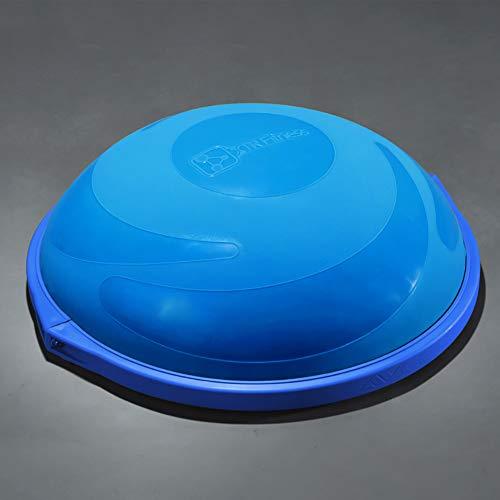 ZHLXZ Half Ball Balance Trainer, Ø 60Cm Inkl Hand Pumpe Beidseitig Nutzbar,Blue,A -