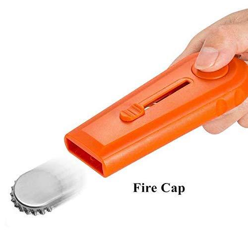 Adkwse Cap Zappa 2 in 1 Flaschenöffner und Schlüsselanhänger Geschenkidee (Orange)