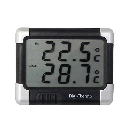 Carpoint 1121212 Innen/aussen Thermometer schwarz/silber