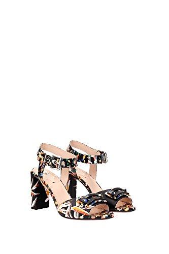 8X51385T0F096W Fendi Sandale Femme Cuir Verni Multicouleur Multicouleur