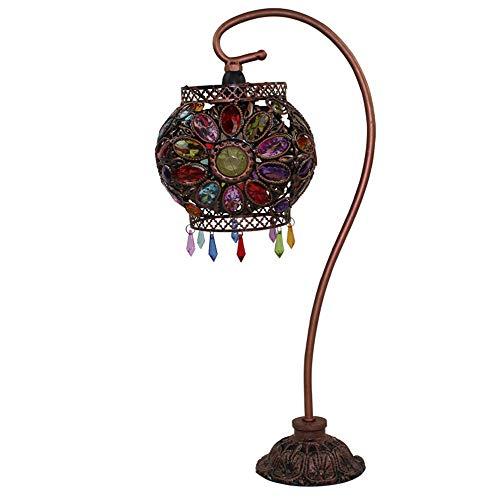 LJJY Glas tischlampe acryl 40W handgefertigte perlen Eisen anhänger quaste nachttischlampe Garten hochzeitsgeschenk Hochzeit inneneinrichtung tischlampe - Schwanenhals-anhänger-stecker