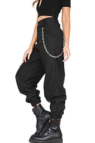YACUN Mujer Casual Pantalones Cargo Pantalon Hip Hop