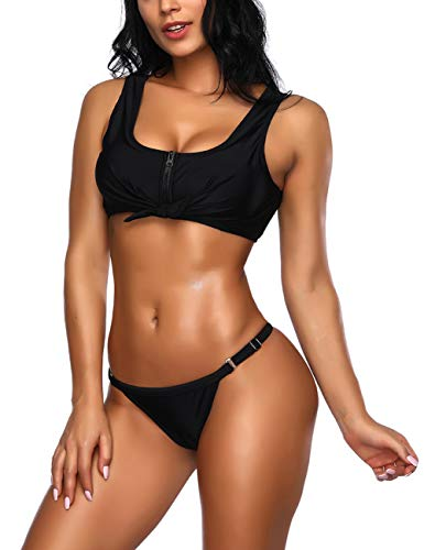 FeelinGirl Push-up BH Bikini Badeanzug Set Beach Bademode
