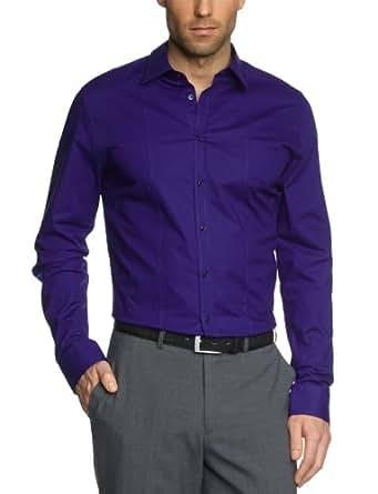 Seidensticker Herren Businesshemd Slim Fit 570290, Gr. 37, Blau (17 blau)