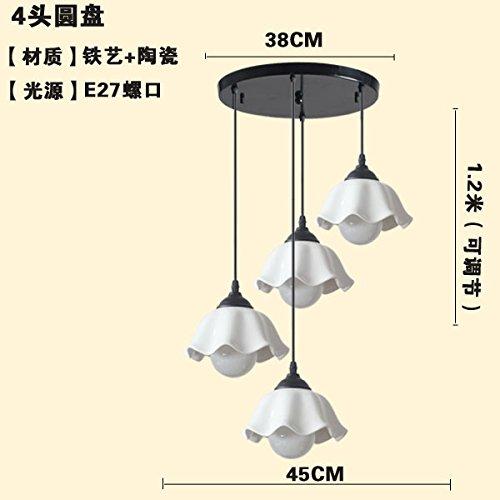 Tre pastorale semplicità creativa in ceramica ristorante LED intestazione bar e il lampadario della sala (Legno Della Struttura Del Soffitto Apparecchio Apparecchio)