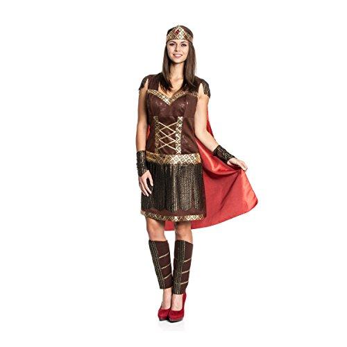 Kostümplanet® Römer-Kostüm mit Umhang Damen Antike Kostüm sexy Damen-Kostüm Größe 40/42 (Antike Kostüme)