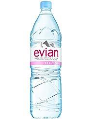 Evian minérale naturelle 1,5 L d'eau ( x 1.5ltr)