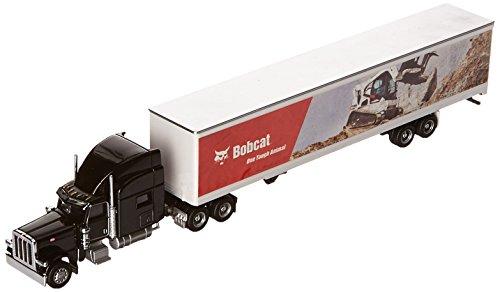 bobcat-peterbilt-model-389-with-utility-4000d-x-composite-van-187-scale-black-truck-with-multicolor-